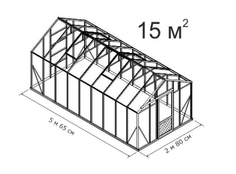 Теплица домиком своими руками из поликарбоната чертеж 90